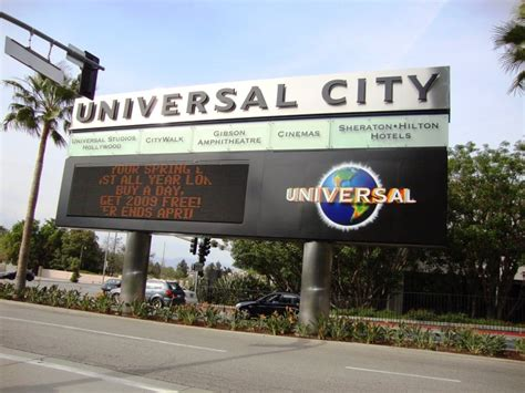 Photo Of A Sign Board Of Universal City