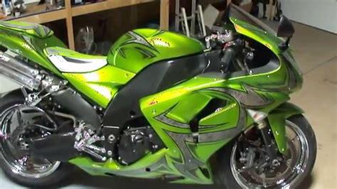 Custom ZX10-R By Garwood Custom Cycles - YouTube