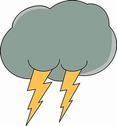 Lightning Cloud Clipart Clip Dark Thunder Cliparts
