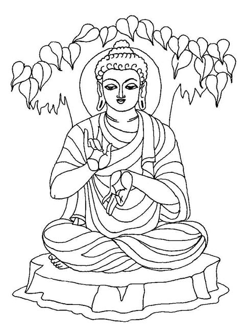 Boedha Kleurplaat by Buddhist Coloring Pages Coloring Home