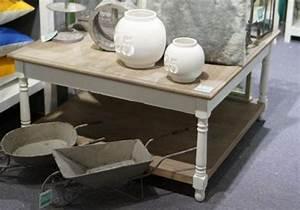 Couchtisch Weiß Grau : landhaus couchtisch wohnzimmertisch weiss grau braun 80 x 80 landhausstil ebay ~ Frokenaadalensverden.com Haus und Dekorationen