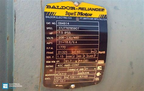 Define Electric Motor by 19 Essential Information You Can Find On Motor Nameplate Eep