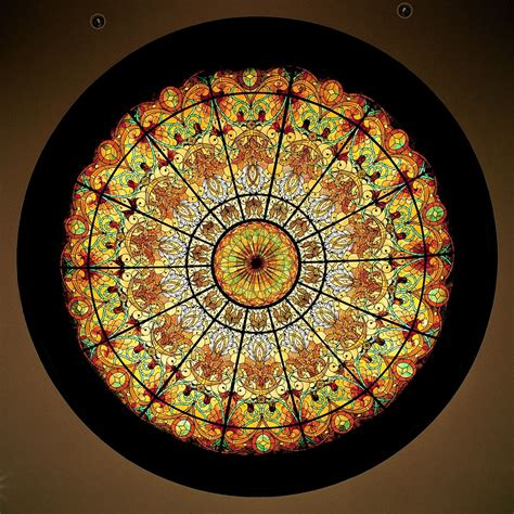 Hand Made Stained Glass Dome Ceiling 16 X 4 In Hand