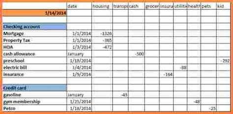 keeping track  expenses spreadsheet excel