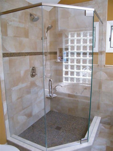 semi frameless shower glass semi frameless corner