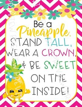 pineapple posters pineapple decor pineapple quote