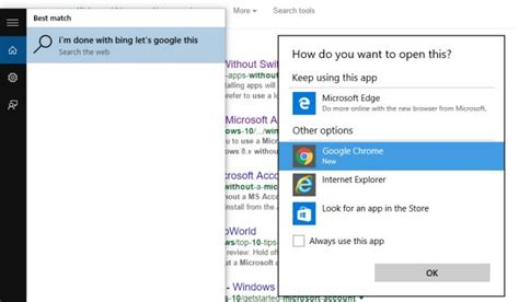 how to change default apps and settings in windows 10