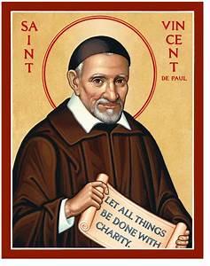 Men Saint Icons: St Vincent de Paul Icon Monastery Icons
