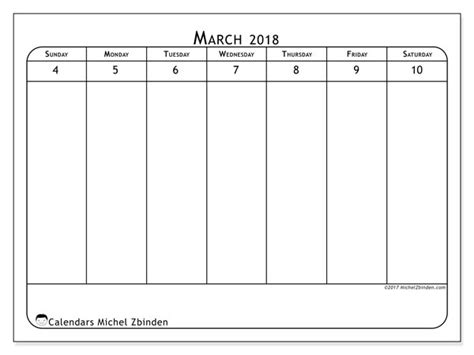 calendar march ss michel zbinden en