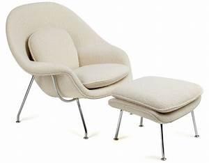 Eero Saarinen Womb Chair And Ottoman By Eeron Saarinen For Knoll