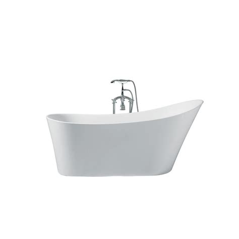 Freestanding Tub Right Drain by Ariel 67 In Acrylic Right Drain Oval Flat Bottom