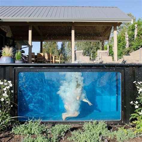 container swimming pool a swimming pool made from a shipping container this house