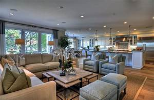 Open concept and great room with neutral colors #