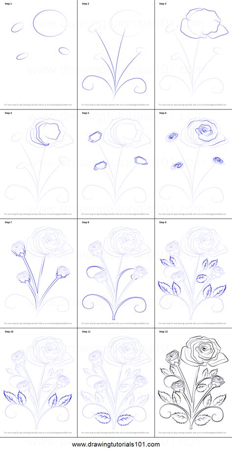 How To Design A Flower Garden Step By Step how to draw a plant printable step by step drawing