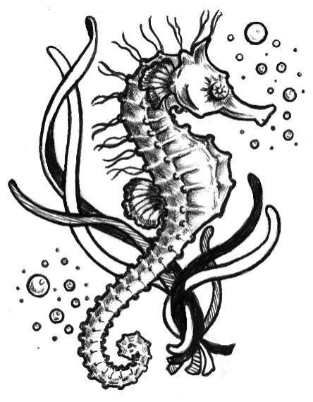 mcmatz's sketchbook | Seahorse tattoo