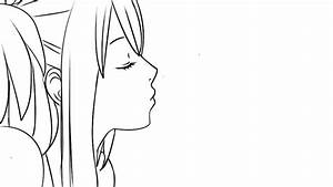 Lucy kiss lineart Fairy tail by mokalala on DeviantArt