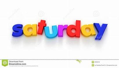 Saturday Clipart Word Background Royalty Zaterdag Letter