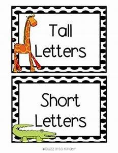 letter sort tall short and hang down freebie With tall letters