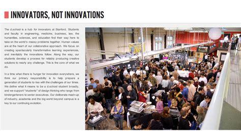 stanford design school stanford design school innovators not innovations