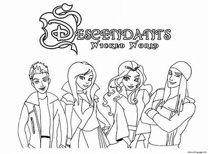 Descendants Coloring Wicked Pages Printable