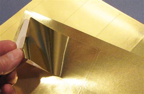Gold Foil Labels 4 X 2 Rectangular Laser 25 Sheets 4020gf