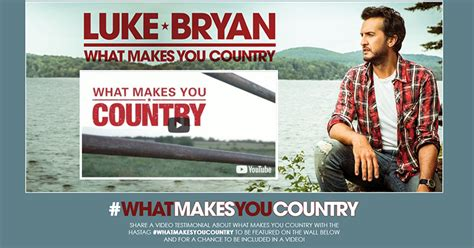 Luke Bryan #whatmakesmecountry Content Wall