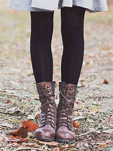 Tights and boots Lace up boots and Patterned tights on Pinterest
