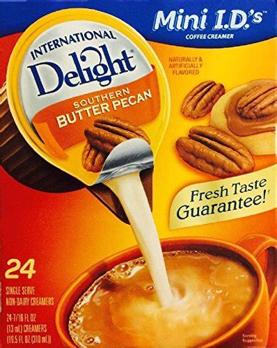 I'll admit that i'm a simple coffee and cream kind of girl. International Delight Southern Butter Pecan Mini I.D.s 24 Single Serve Per Box (Pack of 2) Food ...