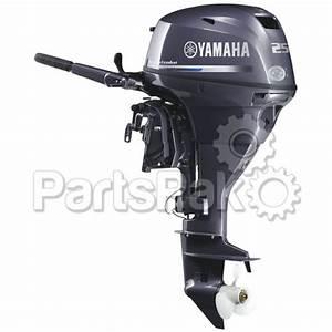 Yamaha F25swhc F25 25 Hp Short Shaft  15 U0026quot   Electric