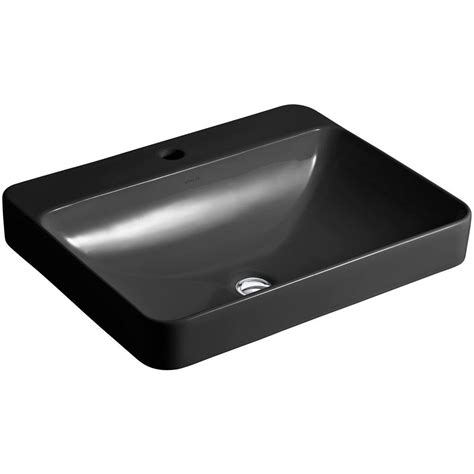 kohler vox rectangle above counter vitreous china vessel