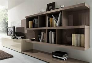 Meuble Laqué Beige : meuble tv design alice laque blanc anthracite 146 cm ~ Premium-room.com Idées de Décoration