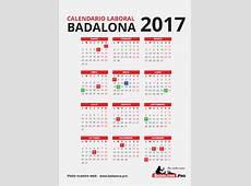 CALENDARIO LABORAL BADALONA – 2017 Badalona