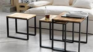 Table Basse Bois Metal : table basse gigogne bois et metal ~ Teatrodelosmanantiales.com Idées de Décoration