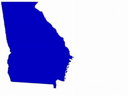Georgia State Outline Map Clip Solid Clipart
