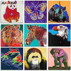 POP Art Artist Andy W Modern Animal Tiger Elephant Eagle