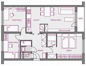 Rozměry bytu 3+1