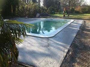 photos des piscines distribuees par aigo piscines a l With dalle beton autour piscine