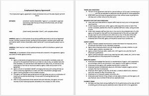 employment agency agreement template microsoft word With staffing contract template