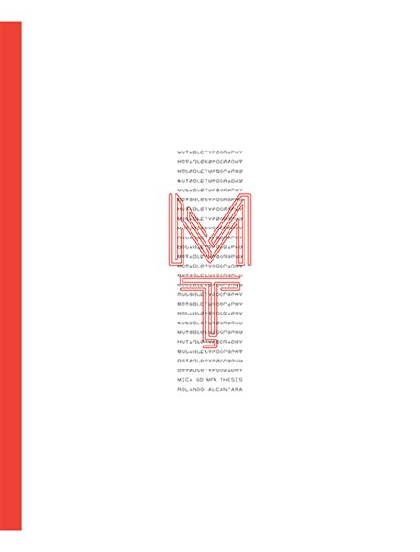 mutable typography zine on behance