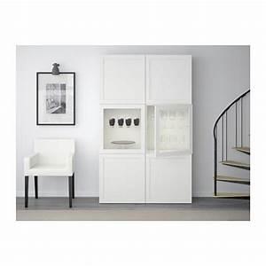 BEST Vitrine HanvikenSindvik Klarglas Wei IKEA
