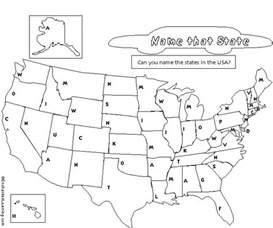 Blank Printable United States Map Worksheets