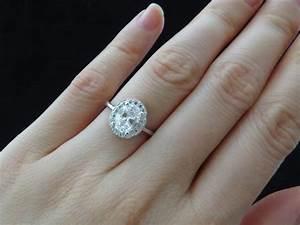 2 carat oval diamond ring halo - Google Search | Wedding ...