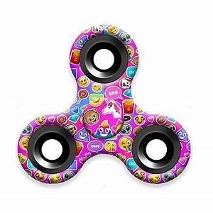 Neon Emoji Fid Spinner Tumblr Hand Toy for Teens