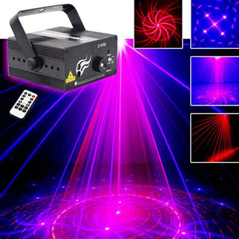 dj laser lights blue led disco light stage lighting effect 18 patterns