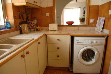 washing machine in kitchen design installing the washing machine in a small kitchen 8907