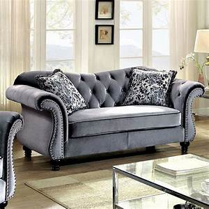 Seats Sofas : grey button tufted love seat ~ Eleganceandgraceweddings.com Haus und Dekorationen