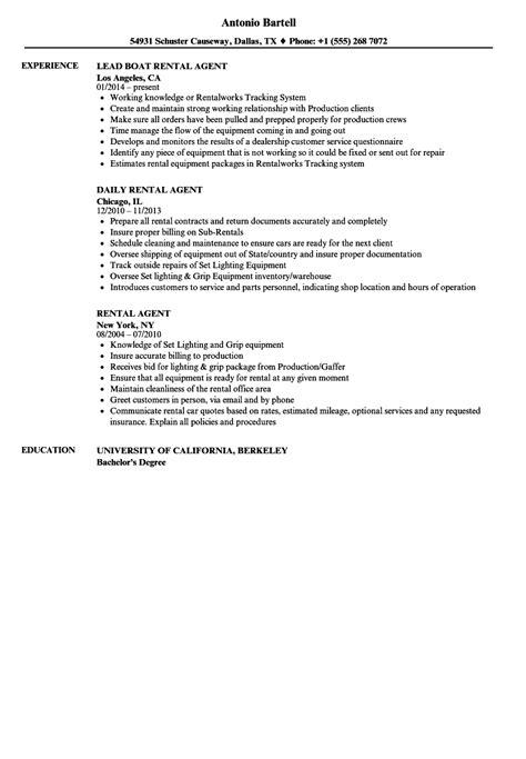 Rental Resume by Rental Resume Sles Velvet