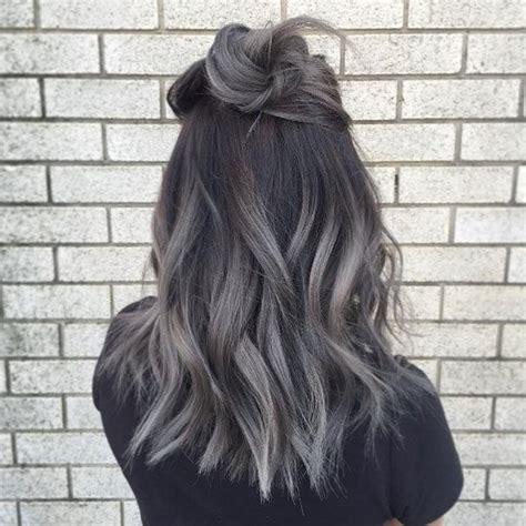 balayage braun grau balayage blond grau kurze haare