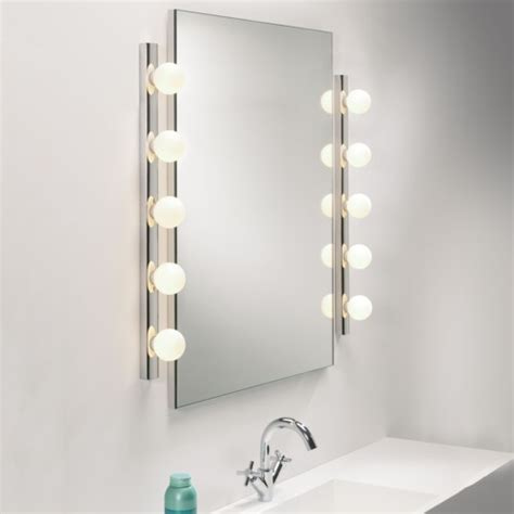 Bathroom Mirrors With Built In Lights by Dressing Room Mirror Light Opal Glass Globes
