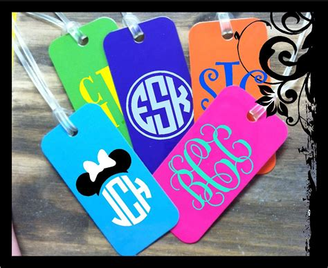 personalized bag tag monogrammed luggage tag backpack tag
